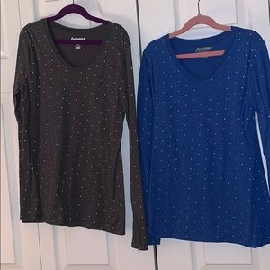 ‼️BUNDLE‼️ 2 x Polka Dotted Old Navy shirts